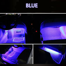 4x 9 LED Red Charge Interior Accessories Foot Car Decorative Light Lamps Blue