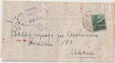 ITALIA 1945 1L DEMOCRATICA ISOLATO SU LETTERA X USCIO