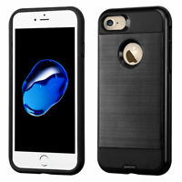 iPhone 7 8 Plus Hybrid Rugged Shockproof Protective Cover Case +Screen Protector