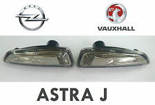 NEW Opel Vauxhall Astra J Turn Signal Indicators Left+Ritht SET SMOKED TUNNING