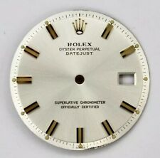 For 36mm Datejust 1601 1603 non-quick Rolex 28mm Silver Index Sticks Dial