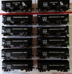 HO Scale ATLAS C&O Chesapeake & Ohio Coal Hopper 12pc Lot