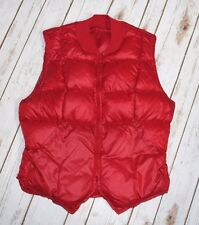 Down Vest Eddie Bauer Girls 14 XL Puffer Puff Red Warm Quilted Zip Up Goose