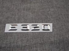 Chrome Trunk Letters Number Emblem Emblems Badge Sticker for Mercedes Benz E320