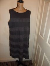 Ladies Dress Monsoon Shift Dress Dark Grey lined Plus Size 20 Ex Con