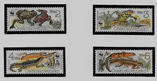 CZECHOSLOVAKIA SC 2748-51 NH issue of 1989 - WWF - FROGS