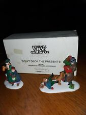 New ListingHeritage Village Collection Dept 56: 'Don't Drop The Presents!, Set of 2