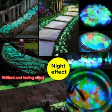 2-3cm Luminous Artificial 20xPebble Stone Aquarium Fish Tank Deco Accessories WT