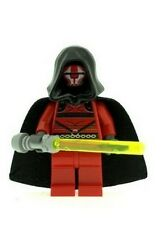 Custom Designed Minifigure - Darth Revan with Lightsaber Printed On LEGO Parts