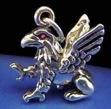 Charm Jewelry king of beasts birds Power Look Griffin Eagle Lion 3D Ruby pendant