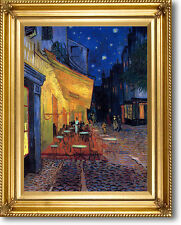 "Van Gogh Cafe Terrace Canvas Giclee Repro W/ Braided Gold Frame 29"" x 25"""
