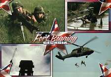 Fort Benning, Georgia, United States Army, Helicopter, Infantry --- Postcard