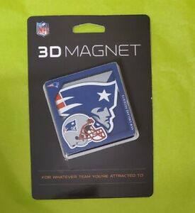 NFL New England Patriots 3D Logo Series Magnet - Blue NEW IN SEALED PACKAGE