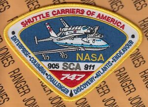 """NASA Space Shuttle Carriers of America SCA 905-911 Flight Suit 5"""" patch"""