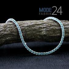 Tennisarmband 925 echt Sterling Silber Damen Armband Zirkonia 2.01ct Türkis Blau