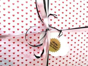 "24 SHEETS VALENTINE RED HEART TISSUE PAPER~20""x30""~HEART-LOVE TISSUE PAPER-24"