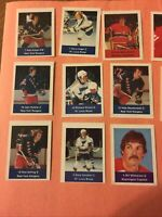 1974-75 Loblaws NHL Action Players - lot of 85 Rangers Canadiens Etc Misc Stamps