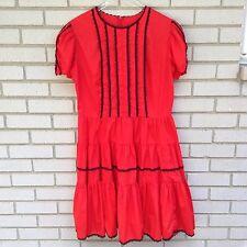Kate Schorer Originals Vintage Dress Square Dance Red Black Rockabilly Western
