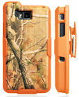Orange Camo Tree Real Woods Case Cover Belt Clip Holster for Sonim XP8 (XP8800)