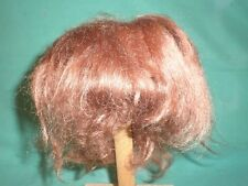 "doll wig reddish brown/ mohair 10.5"" to 11"" short hair/pageboy cut"