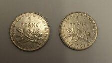 2 X 1961 - 1 moneda de un franco-Francia