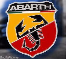 3D badge fits Fiat Abarth Rear Emblem Car Decal Logo Sticker Chrome NEW