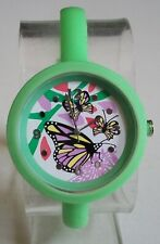 Fashion Candy Colors Jelly Silicone BUTTERFLY Girl's Women's Casual Wrist Watch