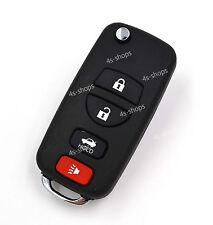 4 Button Modify Flip Folding Key Shell Case For Nissan Armada 350Z Altima Maxima