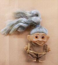 Vintage Troll Glass Eyes Blue Hair