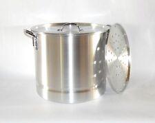 40 QT Quart 10 Gal Aluminum Stock Tamale Pot w/ Steamer Rack and Lid