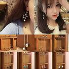 Women Gold Silver Elegant Crystal Flower Drop Long Dangle Chain Earrings Jewelry