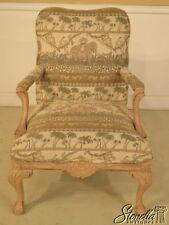 43091: THOMASVILLE Safari Elephant Print Upholstered Arm Chair