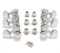 NEW Grover LOCKING NICKEL TUNERS 3x3 for Gibson Les Paul SG ES 18:1 TK-7935-001