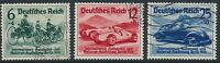 Stamp Germany Mi 686-8 Sc B134-6 1939 WWII Auto Exposition Mercedes Benz Used