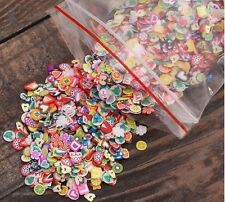 1000pcs Nail Art 3D Fruit Tiny Fimo Slices Polymer Clay DIY Nail Sticker