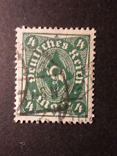 ALLEMAGNE EMPIRE GERMANY 1922/23, timbre 207 oblitéré,  COR DE POSTE, VF STAMP