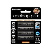 4x Panasonic Eneloop Pro 2450mAh AA High Capacity Rechargeable Batteries New TM