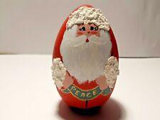Santa Wooden Egg