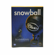 Blue SNOWBALL Wired USB Condenser Microphone for Mac & Windows in Glossy Black
