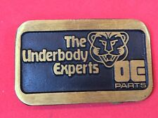 Vintage The Underbody Experts DE Parts auto car Promo belt buckle by Dynabuckle