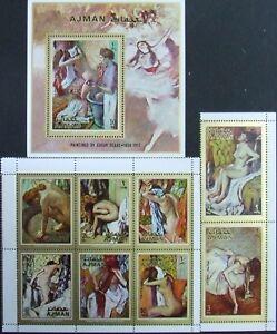 Ajman -Painting-Degas. MNH, AJ 120