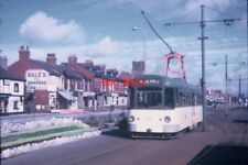PHOTO  1970 BLACKPOOL TRAMCAR AT CLEVELEYS TAKEN IN SEPTEMBER 1970 THIS PHOTO SH