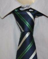 BRICE  Superbe Cravate fine  soie bleu marine vert   silk tie corbata krawatte