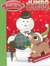 Christmas Rudolph the Red-Nosed Reindeer Coloring Book ~ Rudolph with Snowman