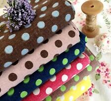 Shabby Chic Pink Blue Large POLKA DOT Distressed Linen Fabric Bundle Doll Making