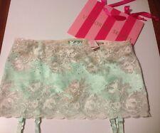 NWT. $48 Victoria's Secret Bling/Sexy Lace Garter Skirt Thong./ Med//W-BAG!L@@k!