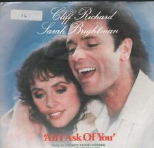 """Cliff Richard & Sarah Brightman(7"""" Vinyl P/S)All I Ask Of You-POSP 802-Ex/Ex"""