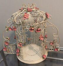 Gazebo Wedding Cake Top Couple Holder Bridal Romantic Roses Votive DIY Bird Cage