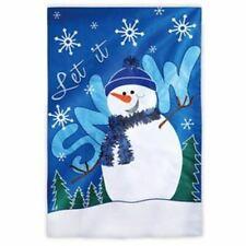 "Evergreen ""let It Snow"" House Size Applique Flag (157852)"