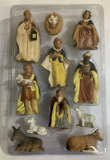 Vintage CBC 11 Piece 5 Inch Resin Christmas Nativity Set Figures & Animals Boxed